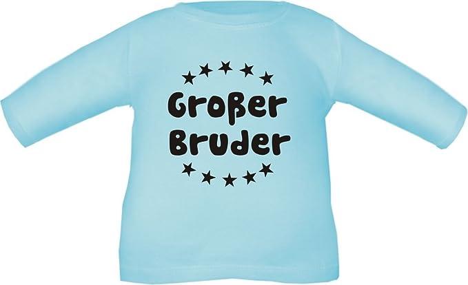 Baby / Kinder T-Shirt langarm (Farbe hellblau) (Größe 53/60