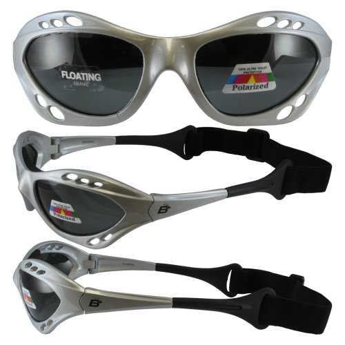 Silver Polarized Sunglasses Floating Water Jet Ski Goggles Sport Designed for the demands regularly encountered while Kite Boarding, Surfer, Kayak, Jetskiing, other water - And Sea Sports Ski