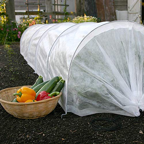 YIDIE Fleece Cover for Plants,Easy Tunnel Garden Cloche,Winter Cloth Plant Cover Mini Greenhouse for Freeze Protection, Reusable Frost Plant Protection Cover 10' Long x 18