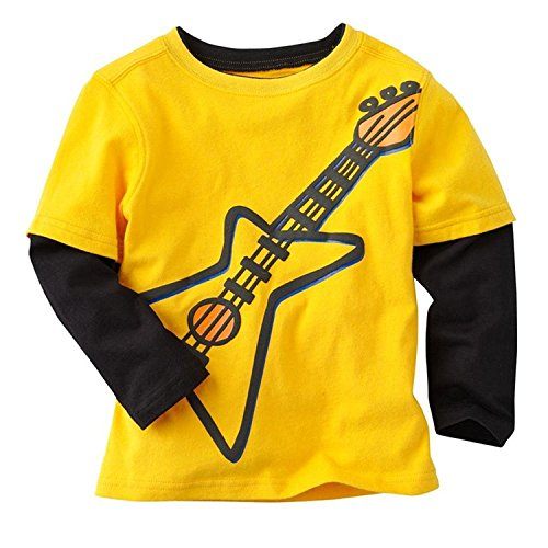 5 Neck Guitar (Baby Boys Kids Long Sleeve Cartoon Cotton T-Shirts Tops (5T(4-5Years), Guitar))