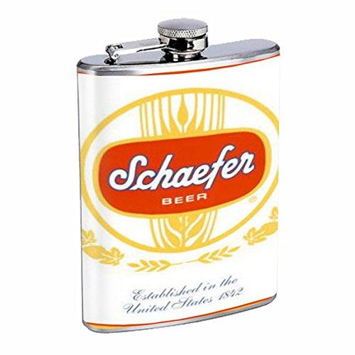 Schaefer Beer Vintage Ad Flask 8oz D-566