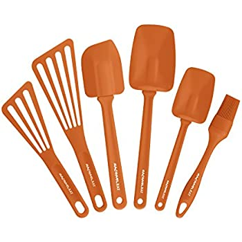Amazon.com: Rachael Ray Tools 6-Piece Utensil Set, Orange: Kitchen ...