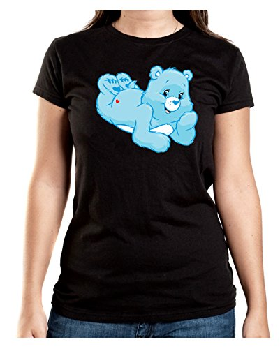 Good Night Bear T-Shirt Girls Black Certified Freak