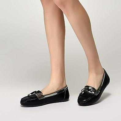 f3097b153c7ba Miss F Ds19029 Siyah Kadın Loafer Ayakkabı: Amazon.com.tr: FLO ...