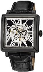 Stuhrling Original Men's 389.33551 Classic Winchester Chariot Square Automatic Skeleton Black Watch Set