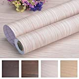 "Art3d Decorative Contact Paper Countertops - Self Adhesive Shelf Drawer Liner - Wood Contact Wallpaper - Waterproof, Peel and Stick, Easily Removable (17.71"" x 78.74"", Beech 2)"