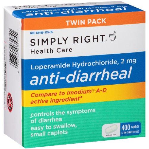 Caplets simple Droit anti-diarrhéiques (200 Ct., 2 Pk).