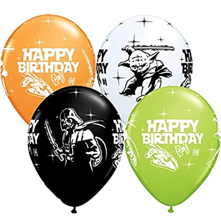 Star Wars feliz cumpleaños 11 cm Qualatex globos de látex x ...
