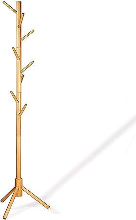 Amazon.com: LENDRA - Perchero de madera de lujo, con 8 ...