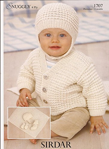 Amazon Sirdar Snuggly 4ply Knitting Pattern 1707 Baby Layette
