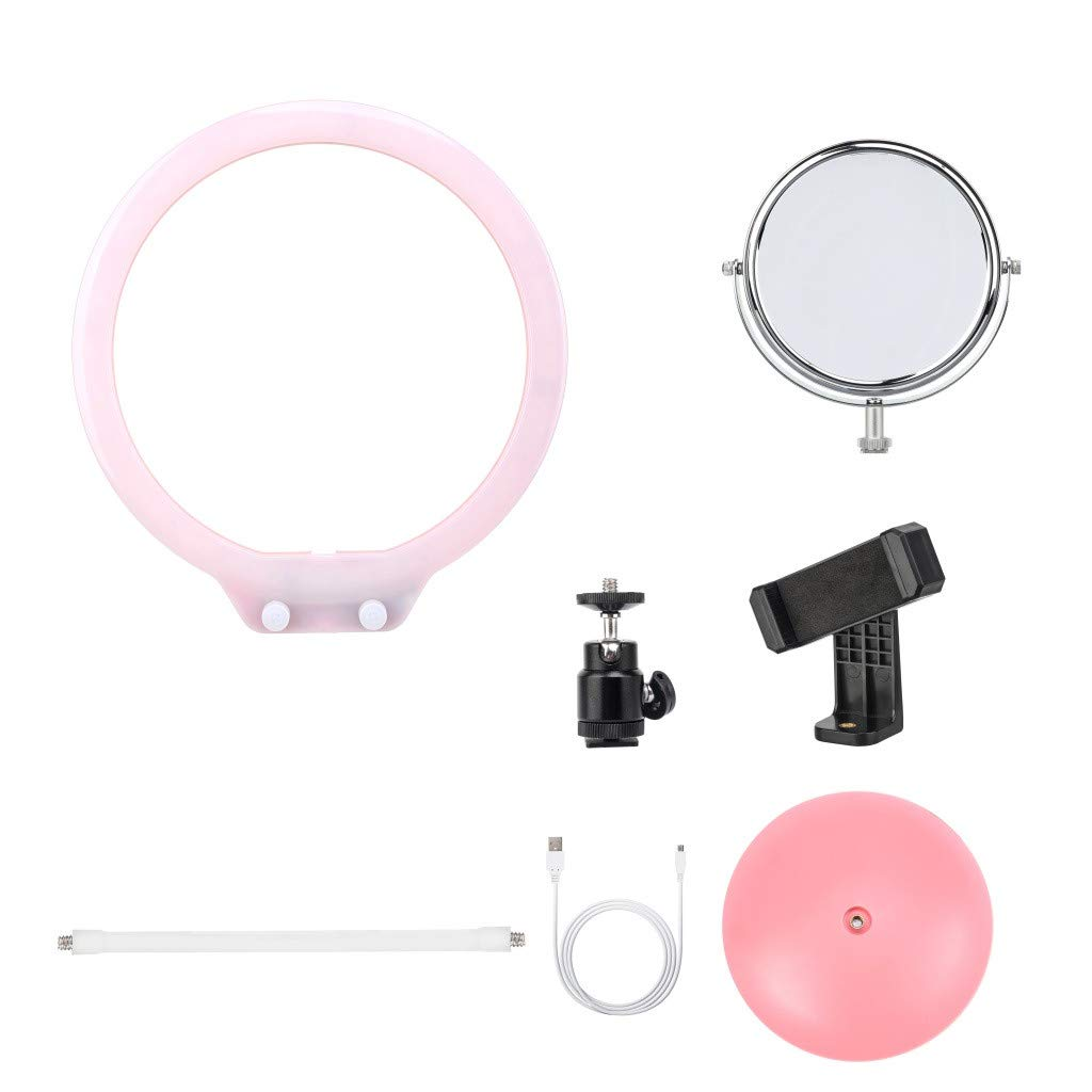 c4f26e71 Chouron LED Ring Light Equipment Kit(10.47Inch) with Mirror for TIK-Tok  Selfie,Makeup,Vlog,Nail Art,Camera 6 Items Kit Portable Fill Light  Equipment ...