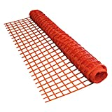 ALEKO SF9045OR4X200 Multi Purpose Safety Fence Barrier Mesh Netting Guard for Construction Events Garden 4 x 200 Feet Orange