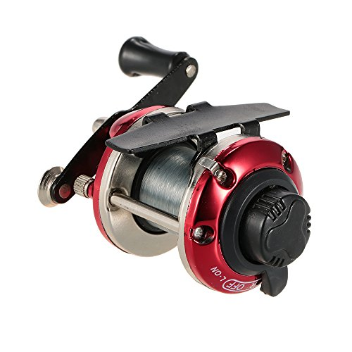 Docooler Right Hand Ice Fishing Reel Drum Reel Lightweight Small Compact Design Metal Construction for Saltwater Freshwater