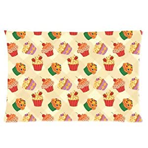 Custom Colorful and Sweet Icecream Rectangle Soft Pillow Case Standard Size 16x24