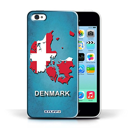 KOBALT® Hülle Case für Apple iPhone 5C | Denmark/Dänemark Entwurf | Flagge Land Kollektion