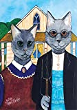 Toland Home Garden Feline Gothic 28 x 40 Inch Decorative Classic Cat Painting Funny Farmer House Flag