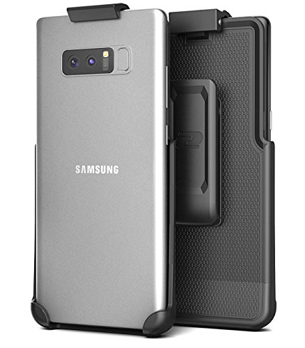 Galaxy Note 8 Belt Clip Holster, Secure-fit Case Free Design (Companion Series by Encased) (Smooth (Free Rotating Belt Clip Holster)