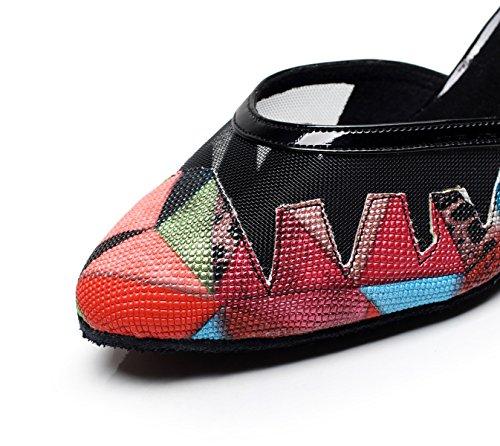 heeled5 Tea Shoes Dance High Salsa Samba UK2 Jazz 5 Sandals A 5cm Women's EU32 JSHOE Tango Shoes Our33 Latin Heels Modern nYpwZYEq