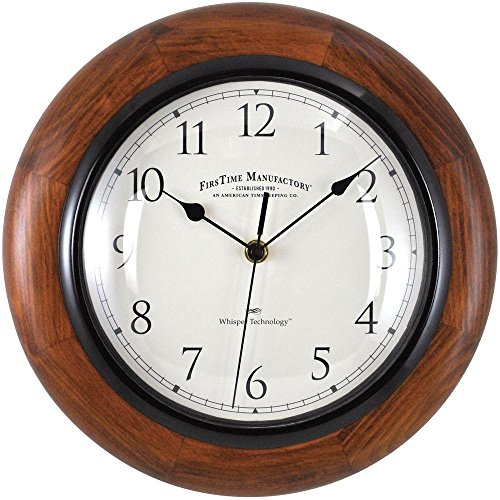 11 in. Walnut Round Wall Clock (Walnut Clock Kitchen)