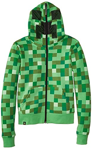 Minecraft Creeper No Face Premium Zip-Up Youth Hoodie (Youth Small, Green)]()