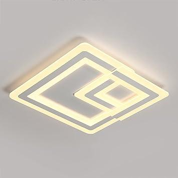 ZLR Schlafzimmer Lampen Deckenleuchte Einfache Moderne Warme Dünne  Quadratische Persönlichkeits Studie Kinderzimmer