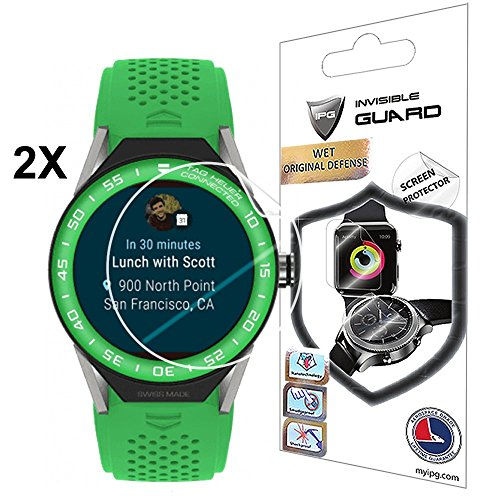 IPG for Tag HEUER Connected 45 mm Screen Protector 2 Units with Lifetime Replacement Warranty Invisible Protective Screen Guard - Smooth/Self-Healing/Bubble -Free