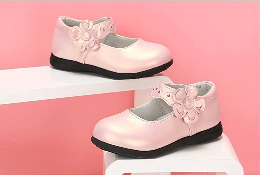 KVbaby Enfants Flat Princess Chaussures Fille Semelles Souples Mary Jane Ballerine Floral D/écor Chaussures en Cuir
