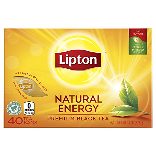 Lipton Premium Black Tea Bags  Natural Energy 40 Ct