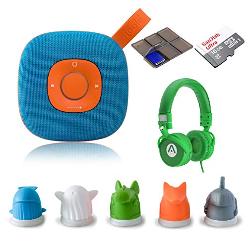 Speaker - Simply The Best Music Player for Kids Screen-Free Music & Stories with ToyTouch Technology, A7 Headphones and 16GB microSD Card + SD Wallet ()
