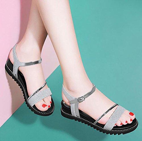 plates sandales mode chaussures simples étudiants de chaussons plates romaines B Sandales Couleur coréens 35 d'été nbsp; sandales Sandales FAFZ A taille qP8vxOn