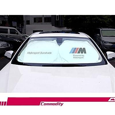 S-WEKA Car Windshield Sun Shade - Blocks UV Rays Sun Visor Protector, Sunshade To Keep Your Vehicle Cool Damage Free,For BMW