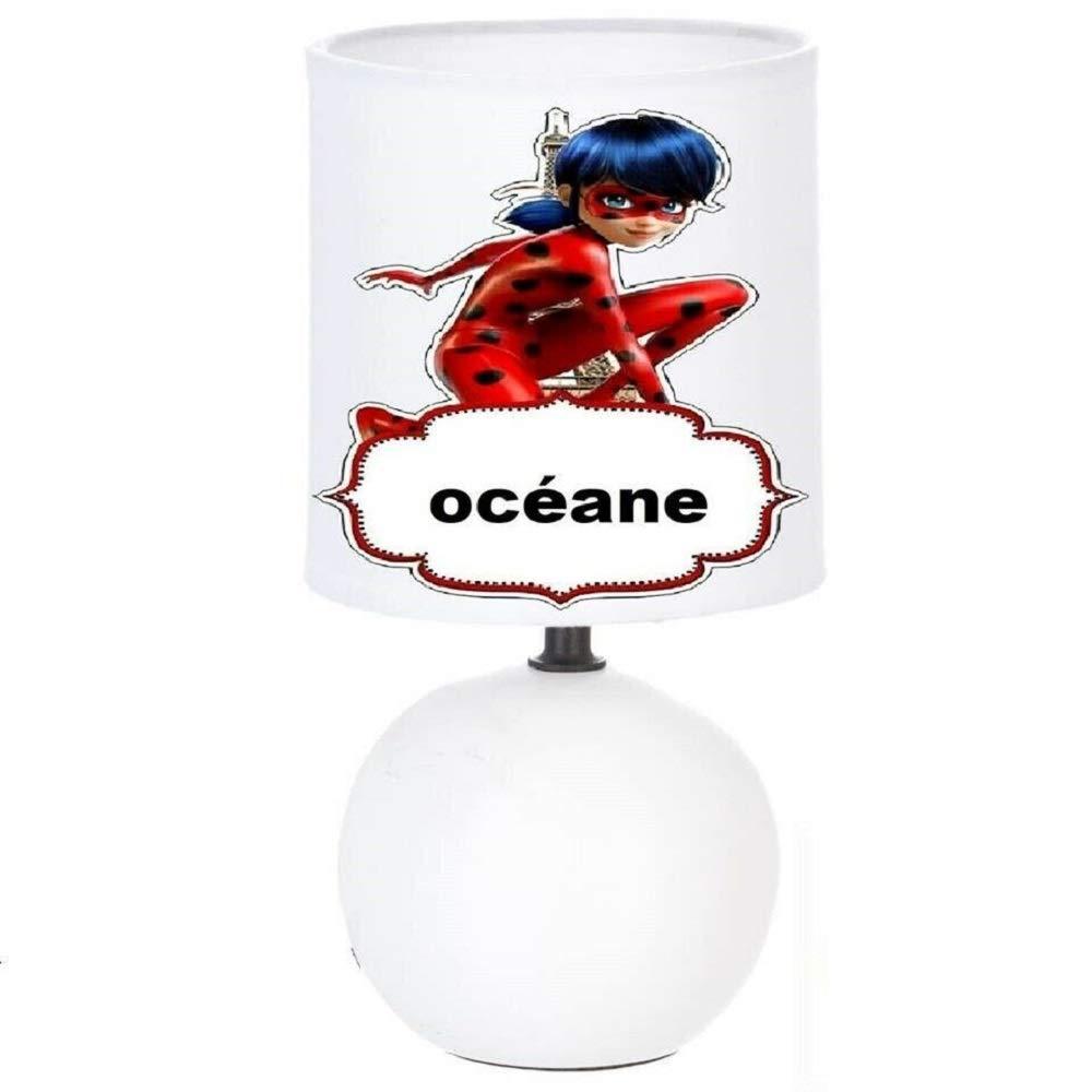 Lampe de chevet LADYBUG MIRACULOUS Personnalis/é avec le pr/énom de lenfant N/° 4