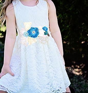 Maternidad Sash Flor Cinturón Baby Shower Dress Accesorios Damas Sash (Azul): Amazon.es: Ropa y accesorios