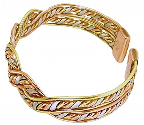 (Womens Solid Copper Magnetic Bracelet Dina with Box Small (6.75 Inches))