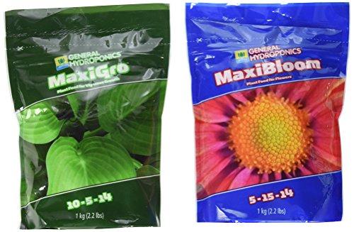 General Hydroponics 718281+718301 Maxigro and Maxibloom Fertilizer, Each 2.2 (Best General Hydroponics General Hydroponics Liquid Fertilizer)