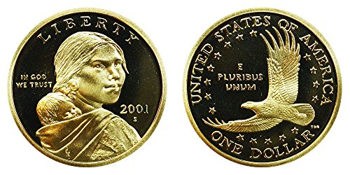 2001 S Sacagawea Native American Proof Dollar PF1