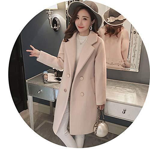 Invierno Hepburn Mujer Top Ropa Popular Nizi Abrigo E Estudiantes Lana Para Sección Abrigo Azw Beige Otoño Mujer Larga De w7pxTTfqO