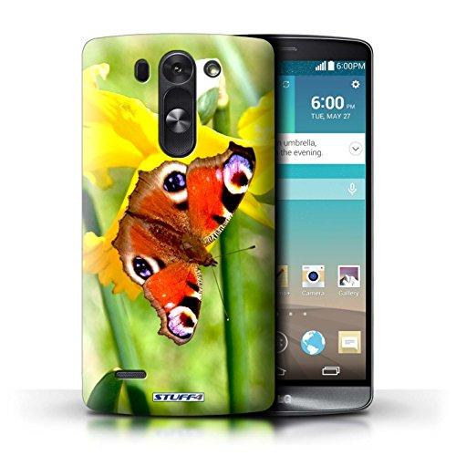 Kobalt® Imprimé Etui / Coque pour LG G3 S (Mini)/D722 / Papillon conception / Série floral Fleurs