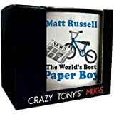 Personalised Great Paper Boy Gifts Paper Boy Mug Thank You Paperboy Presents by CRAZY TONYS