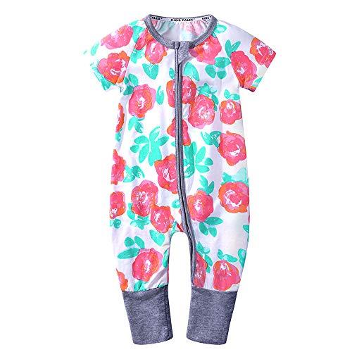 KIDS TALES Baby Boys Girls Short Sleeve Pajama Sleeper Romper Size 3M-3T