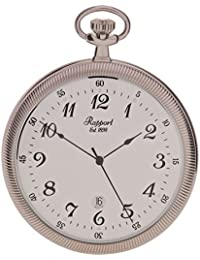 Oxford Open Face Pocket Watch with Date - Silver