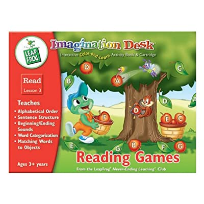Imagination Desk: Reading Games Interactive Color-and-Learn Activity Book and Cartridge: Toys & Games