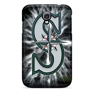 ColtonMorrill Samsung Galaxy S4 Shock Absorbent Hard Phone Cover Unique Design Realistic Seattle Mariners Skin [JzC10459lFWw]