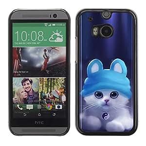 Be Good Phone Accessory // Dura Cáscara cubierta Protectora Caso Carcasa Funda de Protección para HTC One M8 // Cute Ying Yang Cat Kitten
