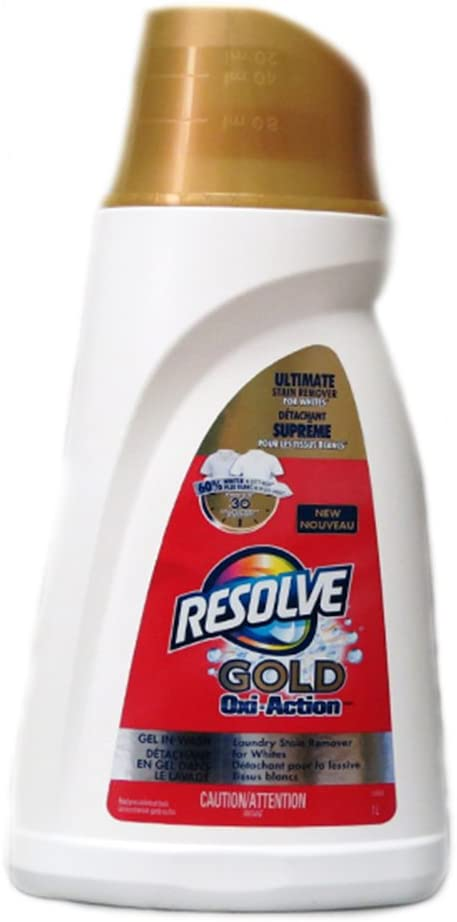Resolve Gel in-Wash Laundry Stain Remover for Whites- Gold Oxi-Action (1L)