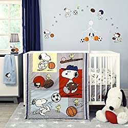 Bedtime Originals 3 Piece Snoopy Sports Bedding Set