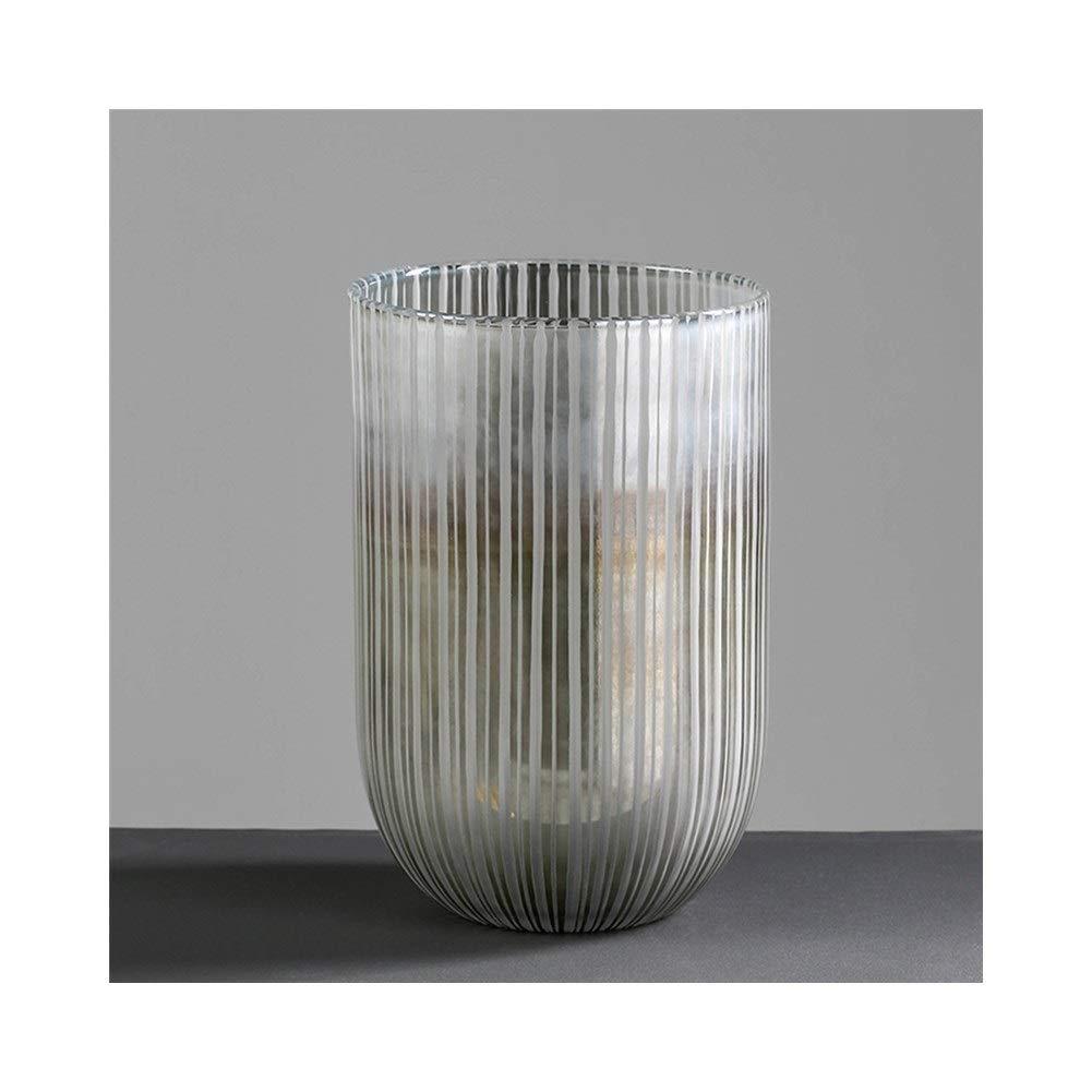 ガラス花瓶装飾リビングルーム花瓶モデルルームデスクトップクリエイティブ装飾 (Edition : A) B07T3JVT4F  A
