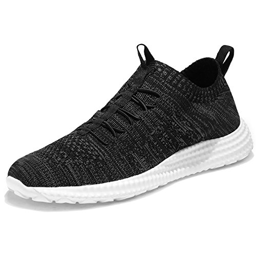 Mens Running Trainers Breathable Gym Walking Shoes Lightweight Athletic Sneakers Size 5UK-13UK Black-37 nicekicks cheap online professional cheap price really cheap price discount 2015 100% original sale online 8QI95ktZ