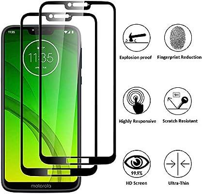 FiiMoo Protector de Pantalla para Motorola Moto G7 Power, 【2 Pack ...