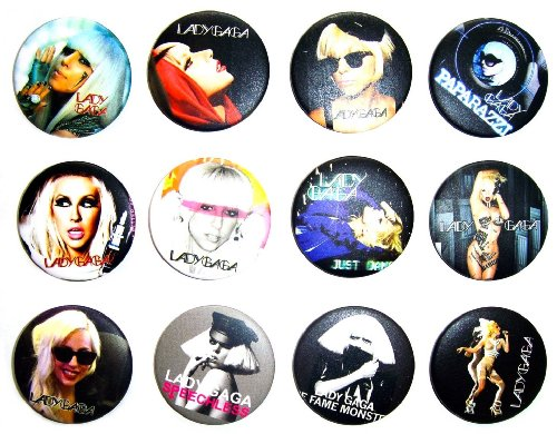 Lady Gaga Just Dance Costumes (LADY GAGA (2) Awesome Quality Lot 12 New Pins Pinback Buttons Badge 1.25 Inch)